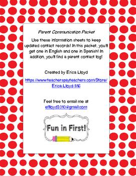 Parent Communication Packet