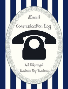 Parent Communication Phone Log (special education, counsel