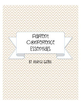 Parent Conference Essential Pack