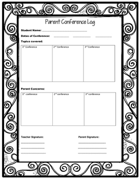 Parent Conference Log