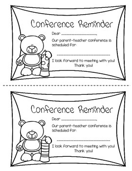Parent Conference Reminder (English and Spanish)