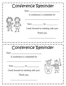 Parent Conference Reminder Form