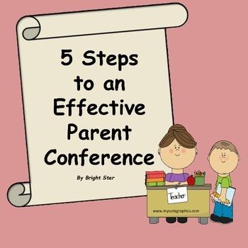 Parent Conference Worksheet