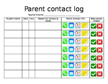 Parent Contact Log #2