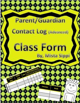 Parent/Guardian Contact Log (Advanced)