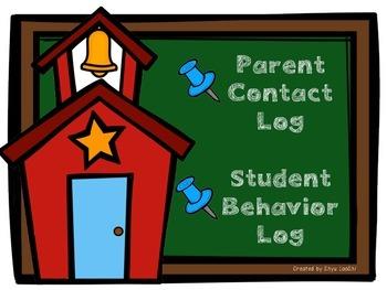 Parent Contact Log and Behavior Log