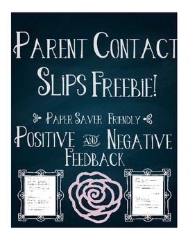 Parent Contact Slips Freebie!