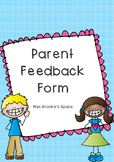 Parent Feedback Form
