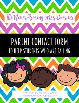 Parent Contact Form for a Failing Student