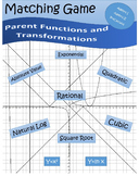 Parent Functions and Transformations Matching Card Activity