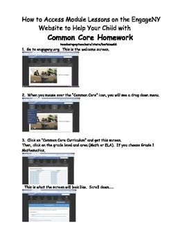 Common Core Math Homework Help: How to see lesson plans an