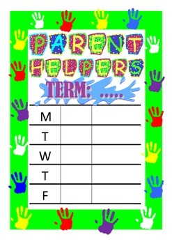Parent Helpers Timetable