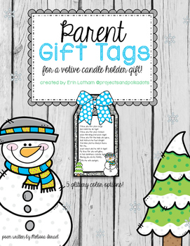 Parent Holiday Gift Tags