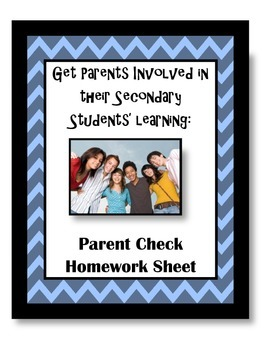 Parent Homework Check WS for Secondary Students
