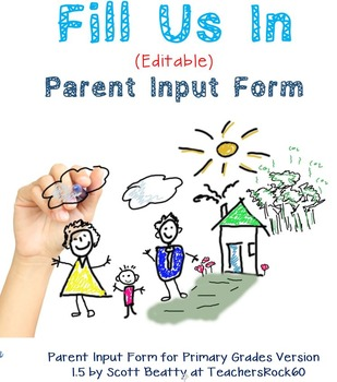 Parent Input Form Primary, Parent Feedback Forms, Back to