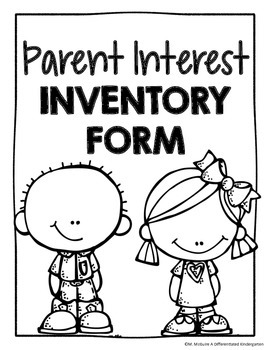 Parent Interest Inventory Printable For Any Grade