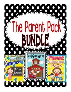 Parent Involvement BUNDLE: Open House, Back To School Nigh