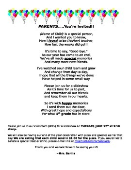 Parent Letter Slideshow