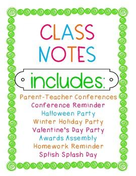 Parent Letters Bundle, Conferences, Parties (Christmas, Ha
