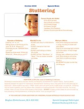 Parent Newsletter - Stuttering