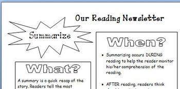 Comprehension - Parent Newsletter Summarize