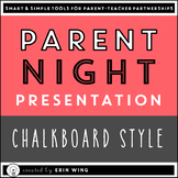 Parent Night PowerPoint Presentation: Chalkboard Style