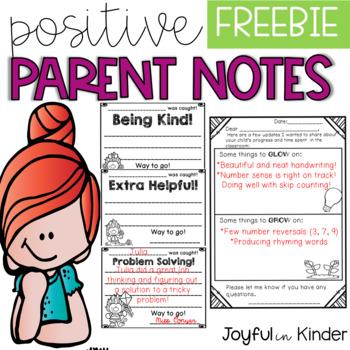 Parent Notes - FREEBIE