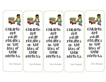 Parent Open House-- Bookmark Gift