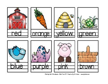 Parent Pack- Color Words and Flashcards
