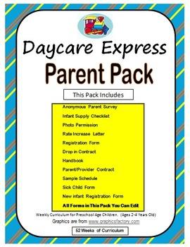 Parent Pack (Sample Handbook & Registration Form, Survey &