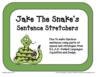 Parent Pack- Stretching Sentences with Jake The Snake