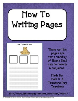Parent Packet- Sequencing Events in Writing