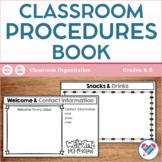 Classroom Procedures for PARENTS Book