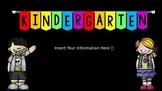 Parent Q&A Slideshow - EDITABLE