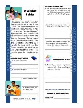 Parent Read-Aloud Program Vocabulary Builder