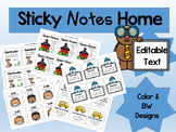 Parent Reminder Sticky Notes - Editable