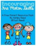Parent Resource Packet: Fine Motor Skills {FREEBIE}