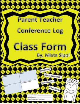 Parent Teach Conference Log (includes next step actions)