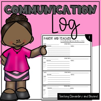 Parent & Teacher Communication Log: Documenting all Commun