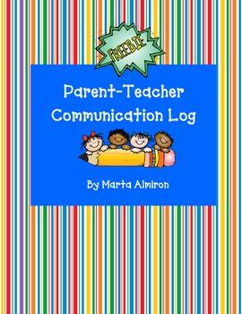 Parent-Teacher Communication Log - Freebie