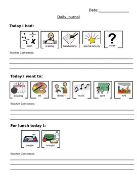 Parent/Teacher Communication Notebook Pages