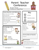 Parent/Teacher Conference - Communication Form (Editable Version)