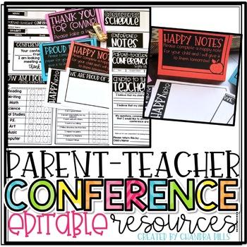 Parent-Teacher Conference EDITABLE Resources!