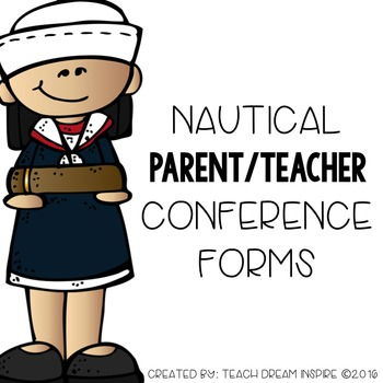 Parent/Teacher Conference Forms {Nautical Theme}