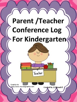 Parent/ Teacher Conference Log for Kindergarten