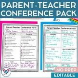 Parent Teacher Conference EDITABLE