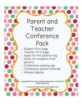 Parent Teacher Conference Pack