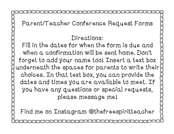 Parent Teacher Conference Packets