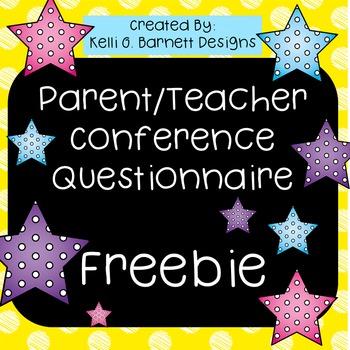 Parent Teacher Conference Parent Questionnaire