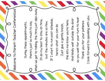 Parent Teacher Conference Poem